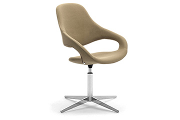 design loungesessel mit hocker fur empfang Samba Plus